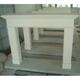 High quality interior decoration beige insert marble fireplace surround