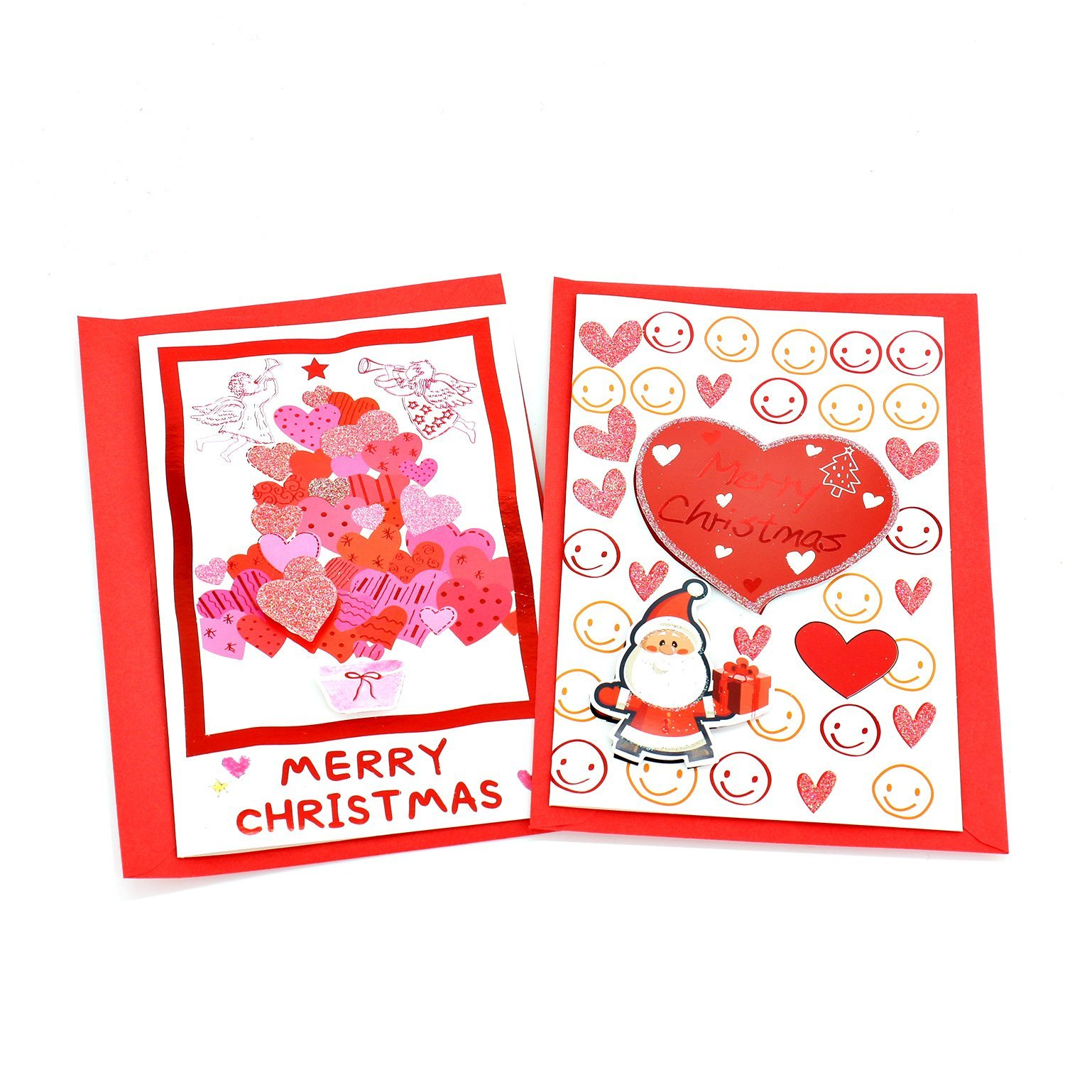 Buy Love Greeting Cards Merry Christmas Cards With Red Envelopes