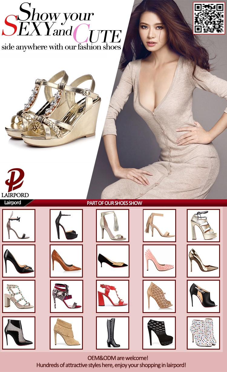 Wholesale China supplier high quality buckle ankle strap gold ...