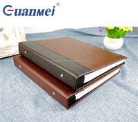 GuanMei PU Leather Cover Post Bound PP Photo Album With 5R 2up 40 Sheets