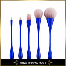 5pcs Professional Make up Brushes Canton Tower Shape Synthetic Hair Facial Beauty Tools for Girls