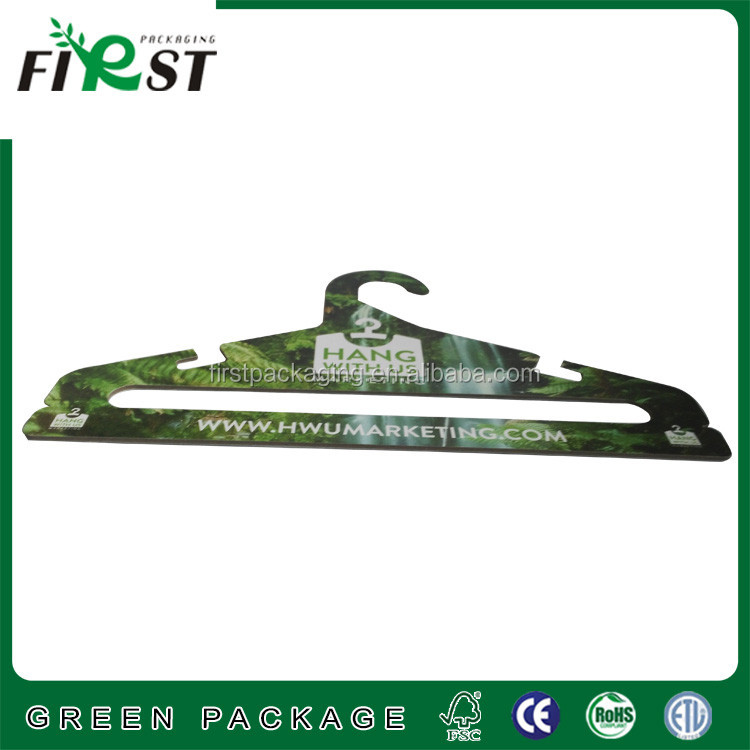 Custom printing recycled grey paperboard clothes hangerl Paper Hangers For Clothes