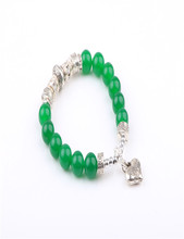 2017 Fashion bracelet fashion design women jewelry hot green heart jade bangle bracelet