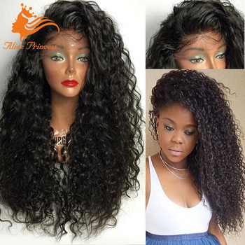 200 Density Lace Wig Natural Mullet Curly Wig With Baby Hair Remy Cambodian  Hair Full Lace da18d70cf