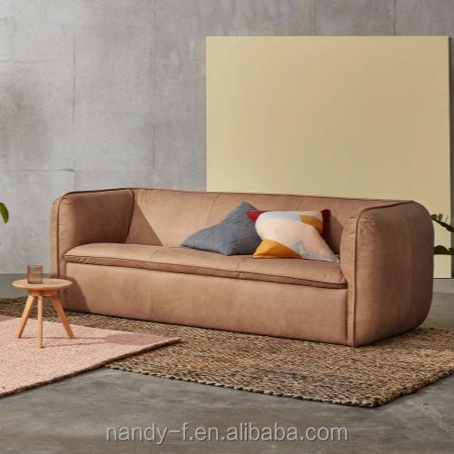 Nordic Scandinavian Style Furniture Leather Sofa Set