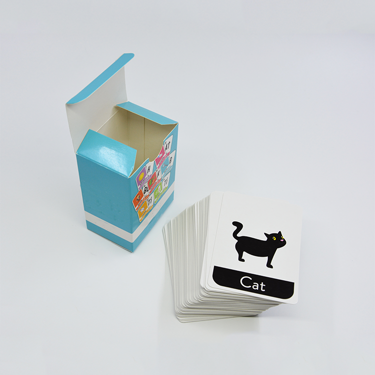 Deck of paper card games printing custom flash cards education