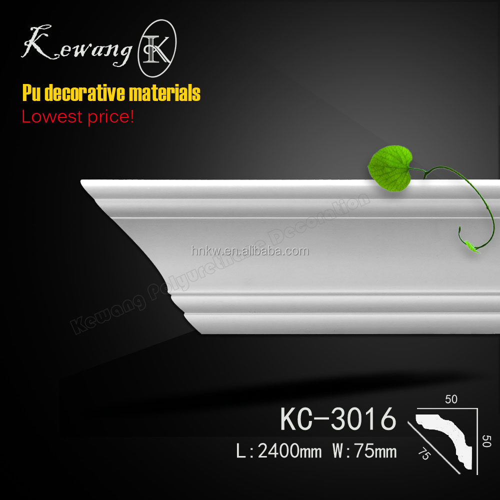 KC-3016 white color foam building contemporary crown molding