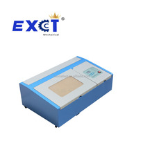 Desktop home used small 40w CO2 laser engraving machine for stamp wood acrylic rubber paper glass plastic with CE