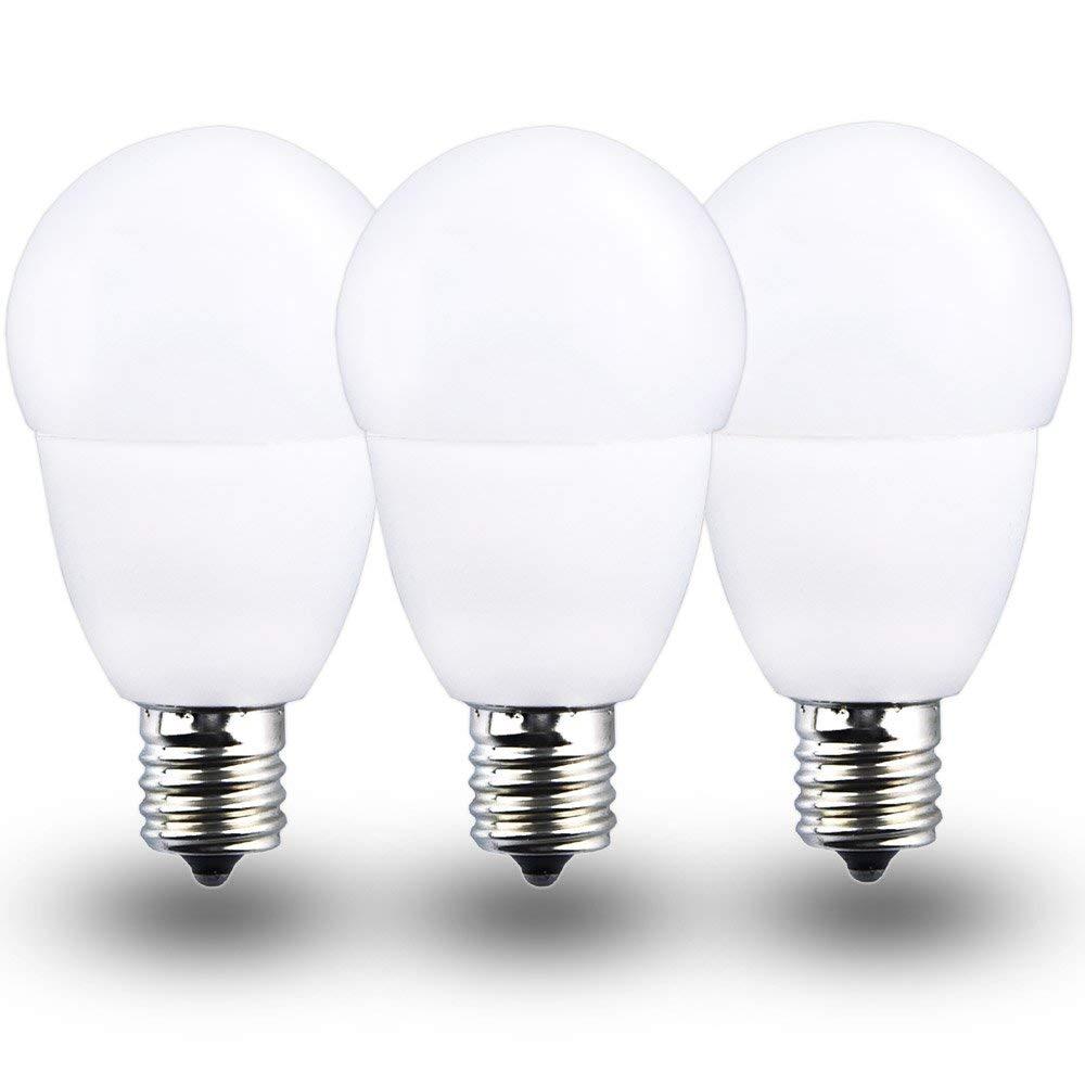 LED E17 Bulb 5 Watt Globe Intermediate Base LED Bulb Daylight, Klarlight 50 Watt E17 Incandescent Replacement Lights Headboard Reading G14 LED Light Bulbs, Non-Dimmable