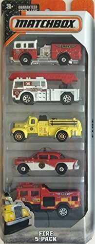 Matchbox, On a Mission 2015 Series, Fire 5-Pack