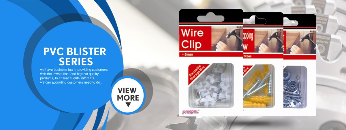 Botines De Cable Ciego transparente de plástico-Paquete de 3-incluye tornillos y wallplugs