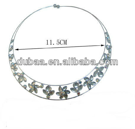White Gold Necklace without Nickel,2014 Fashion Necklace from Yiwu Market
