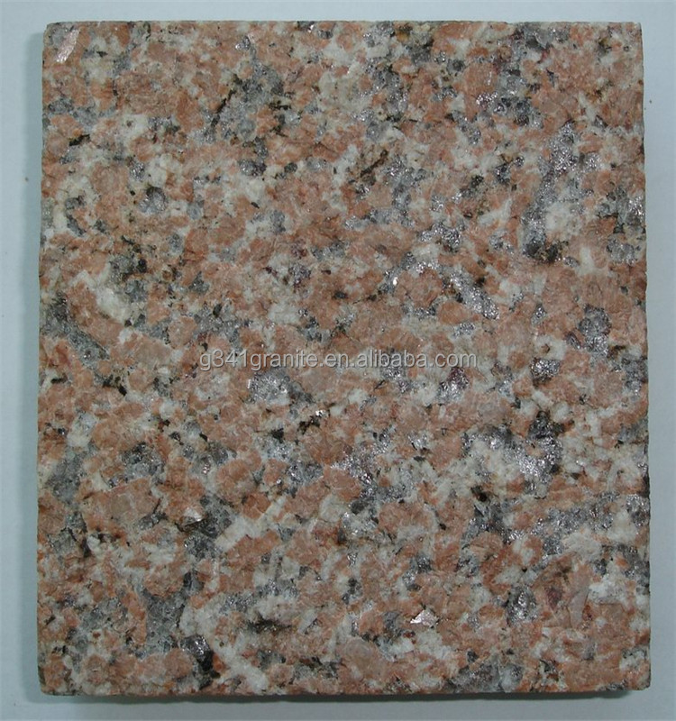 Grooved chiselled G386 granite, shandong red granite tiles for outdoor patio