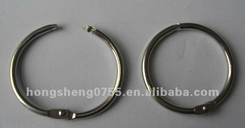 Manufacturer Metal Loose leaf binder snap ring