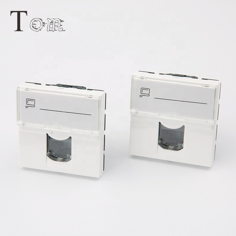TOM-KJ-L-10 Cat6 RJ45 Quick Connect toolless french Legrand type Keystone Jack