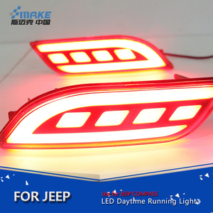 Smrke Car styling led rear bumper light for Jeep Compass 2017 led rear reflector brake lamp