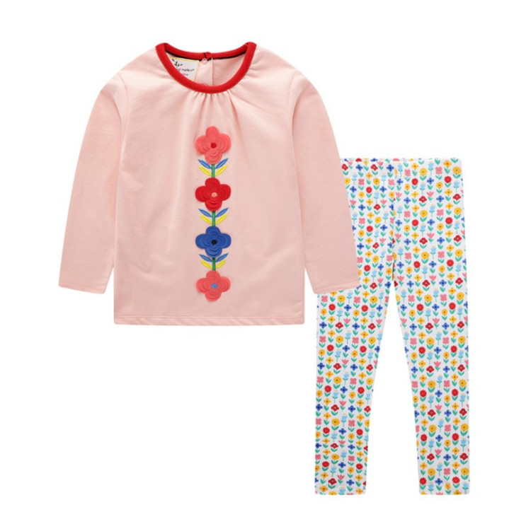 Girls' Clothing <strong>Sets</strong> Child Spring Autumn Long Sleeve Shirt Leggings Floral Cute <strong>Baby</strong> <strong>Set</strong> <strong>New</strong> Design Kids Two Piece <strong>Set</strong>