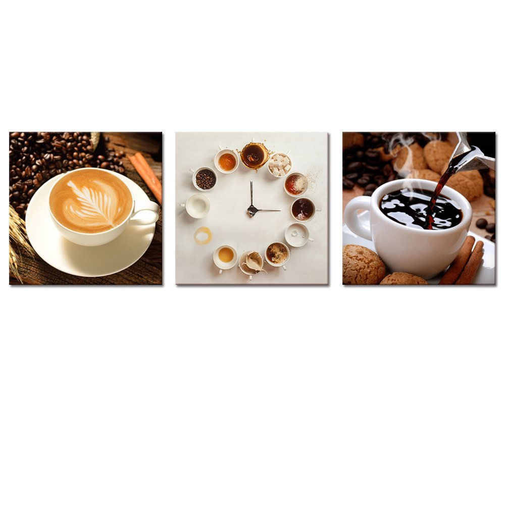 Coffee Canvas Wall Art Clical Delicate Cups