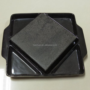 Steak Stone and Plate Set of 3,Steak On Stones Cooking Steaks Hot Rock Grill Plate,Lava Stone Steak cooking stone Set