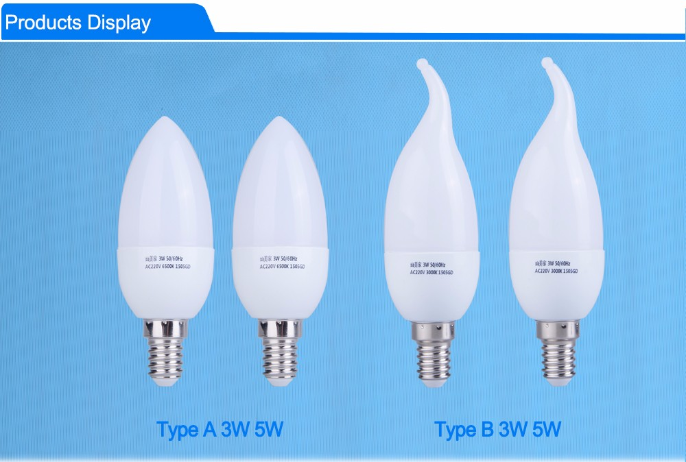 Wholesale Energy Saving Lamp E14 Led Candle 5W 220v Smd2835 Light ...