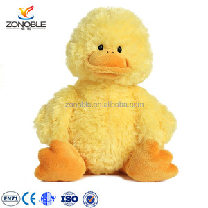 Hot Sale Cheap High Quality Soft Cuddly yellow big mouth plush stuffed soft duck toy