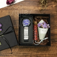 Cocostyles bespoke luxury marvelous generous gift box with watch gift sets for gentlemen premium business present