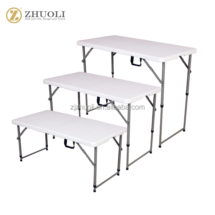 Multifunctional high quality New elegant 4ft <strong>fold</strong> in half table adjustable