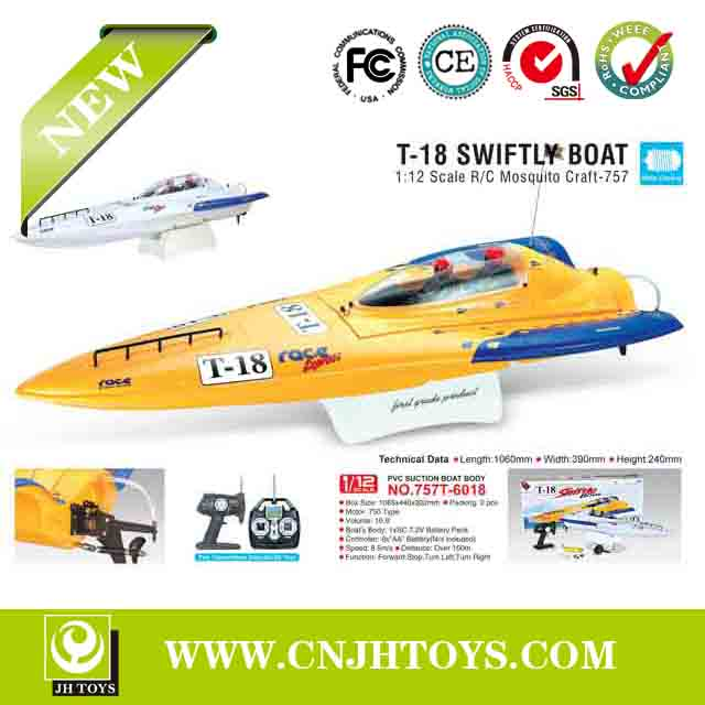Hot Selling!1:12 Scale High Speed Big Racing Rc Boat 757T-6018