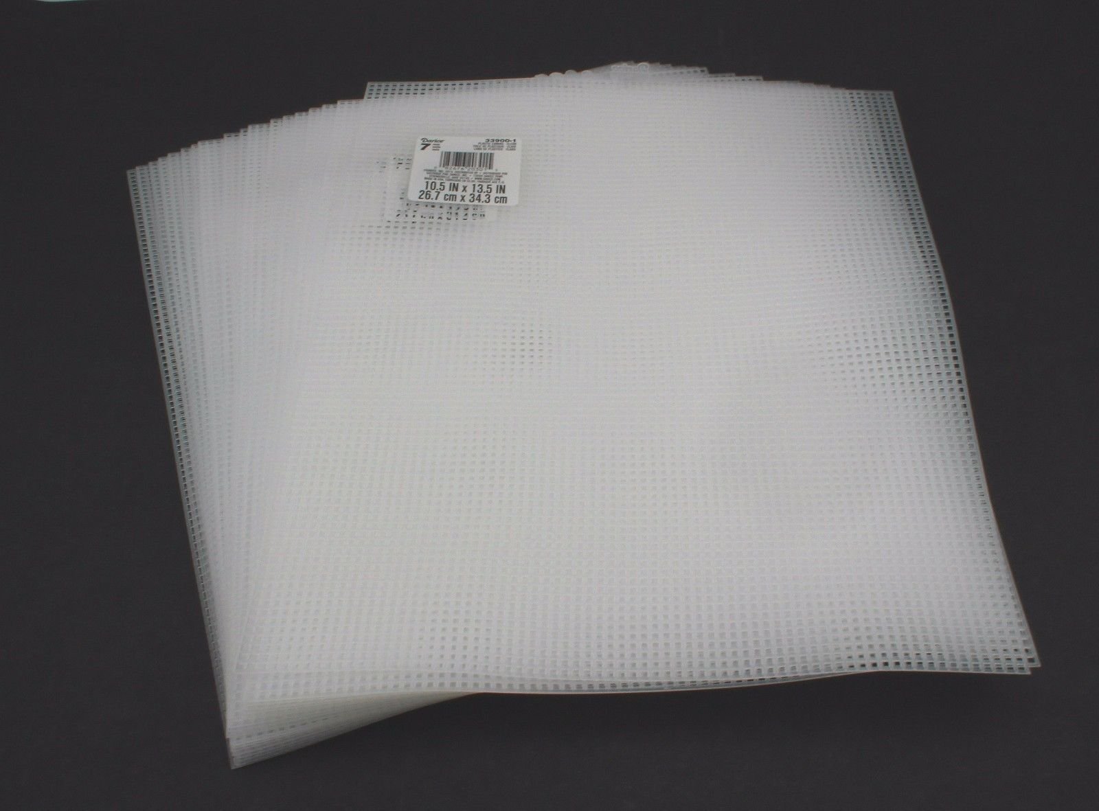 "Darice 7 Mesh CLEAR SUPER SOFT PLASTIC CANVAS 12/"" X 18/"" CLEAR 1 Sheet"
