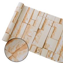 Виниловая самоклеящаяся настенная бумага, кирпичные ПВХ наклейки на стену, водонепроницаемая кирпичная настенная бумага для гостиной, кух...(Китай)
