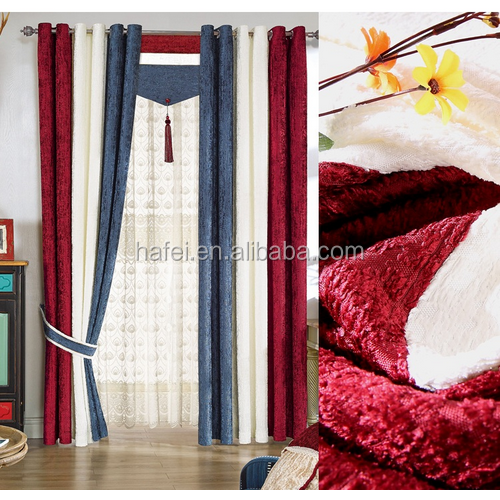 modern patchwork window pile stitching blackout curtain