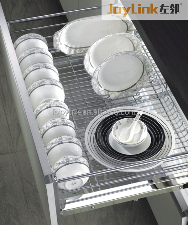DB01 series Kitchen Three Side Soft Closing Pull out Dish Basket