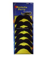 Pack of 6 Black Mexican 70's Stick on Fake beard Moustache Self Adhesive Party Joke MU20007