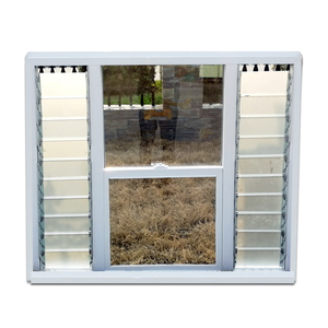 American Upvc Style Plastic Windows Quality Window And Door With Electrical Blinds