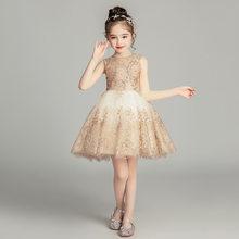 Теплые платья для девочек на свадьбу, Новые Платья с цветочным узором для девочек, платья для первого причастия с аппликацией(China)