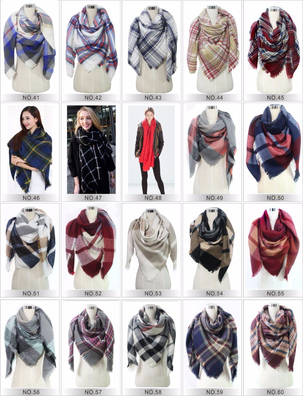 Tartan plaid blanket oversize winter cashmere scarf ,scarf factory china