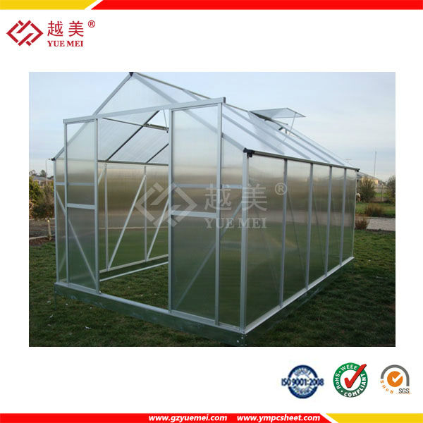 10mm UV protective twin wall hollow sheet for Agricultural greenhouses / construction material for roofing and glazing