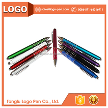 red correcting promotional marketing metallic pen with stylus