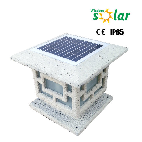New Hot Ce Outdoor Solar Led Courtyard Light Yard Pillar Garden Lighting Stone Lamp View Wisdomsolar Product
