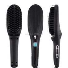 2017 New Arrival Professional Fast Hair Straightener Brushes LCD Display Electric Ceramic Rotating Hair Straightening Brush