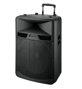 "18"" Portable Trolley Style Active Speaker With Rechargeable Battery"