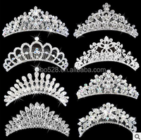 Bridal Wedding Crystal Rhinestone Crown Heart Crown Pageant Silver Plated Women Children Tiaras Hair Comb Headband