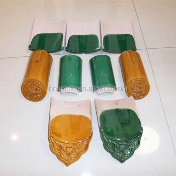 Chinese Style Building Roof Material Glazed Ceramic Roof Tiles ...