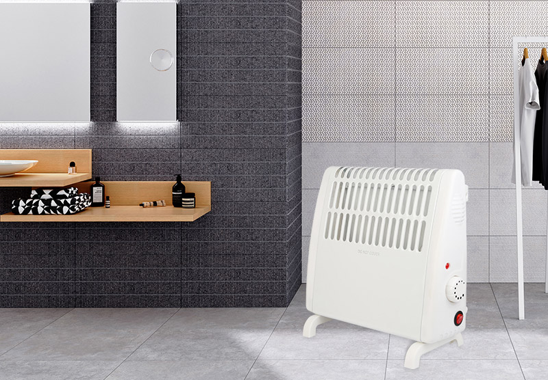 Portable mini convector heater fan electric heater with power indicate light