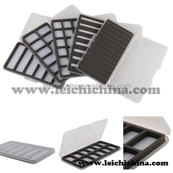 Wholesale Super slim foam insert plastic fly fishing boxes