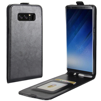 High quality crazy horse PU leather up and down phone sleeve for Samsung note 8 SM-Note 8 phone holster