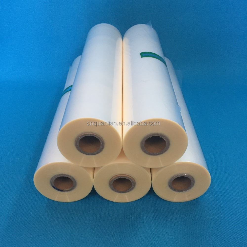 1inch core 27micron matt bopp heat lamination film