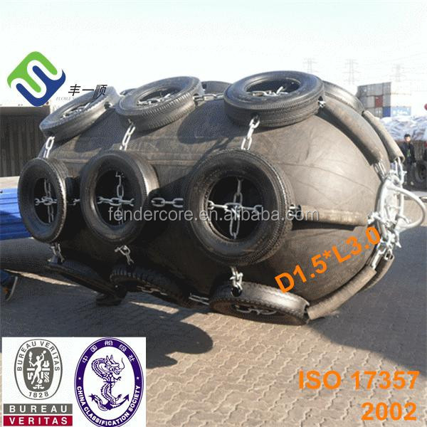 CCS and BV certificate pneumatic rubber floating fender for ship