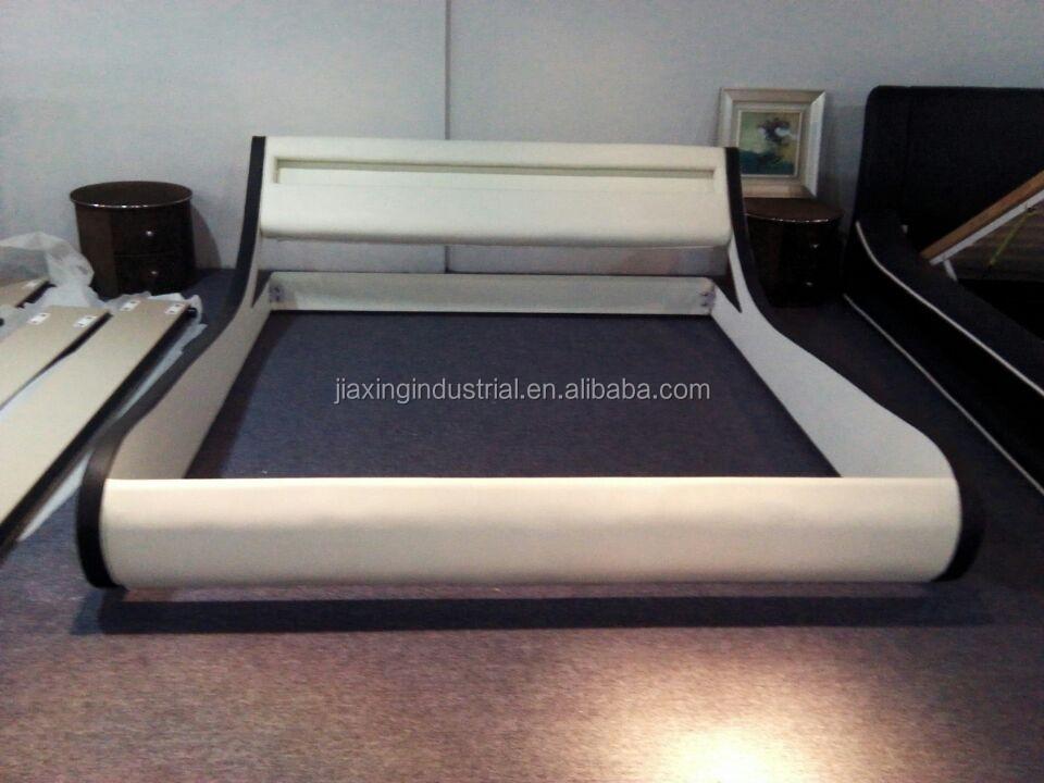 Buen precio para euro diseño cuero de la pu cama del led, cama con ...