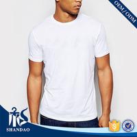 Guangzhou Shandao Factory OEM Summer Men O-neck 160g 65% Polyester 35% Cotton Wholesale Hip Hop Blank T-shirts